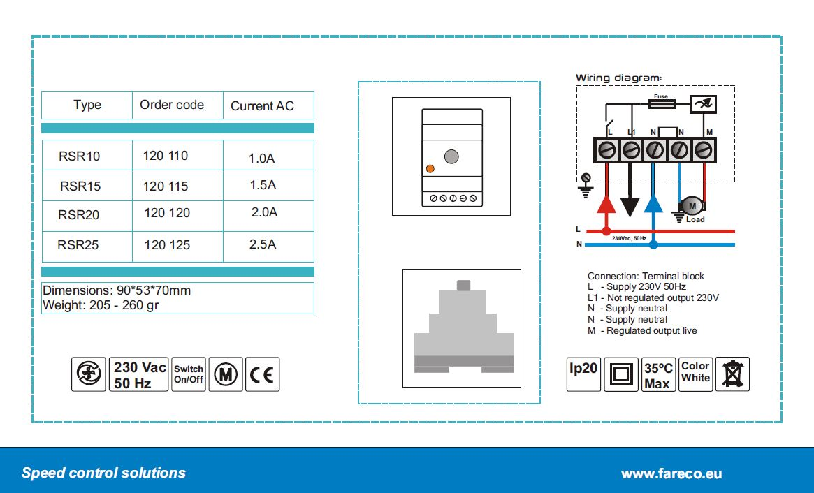 RSR series diagram - electronic speed controllers